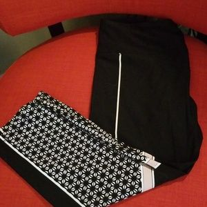 RBX black and white jogging pants sz xlarge